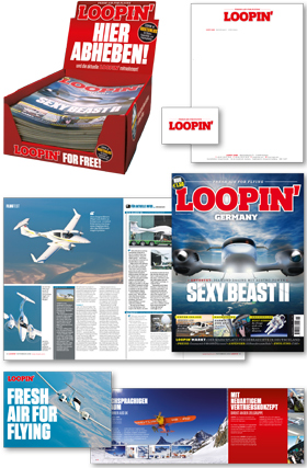 EDITORIAL DESIGN Berlin-Styleguide Fliegermagazin LOOPIN' by logolotte